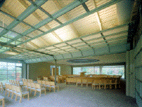first interior of Congregation Sons of Israel at Briarcliff Manor by James S. Rossant, Conklin + Rossant