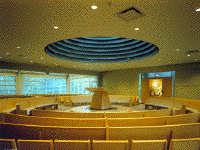 second interior of Congregation Sons of Israel at Briarcliff Manor by James S. Rossant, Conklin + Rossant