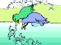 image from The Little Blue Duck, by James S. Rossant